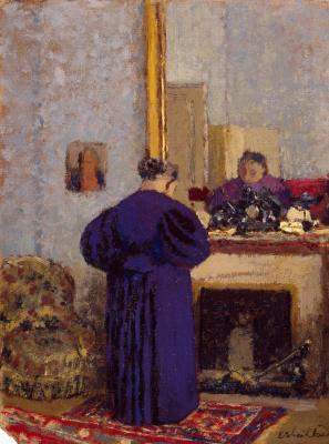 Jean Edouard Vuillard. The old woman by the fireplace