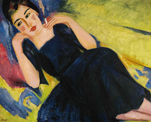 Макс Пехштейн. Женщина с сигаретой