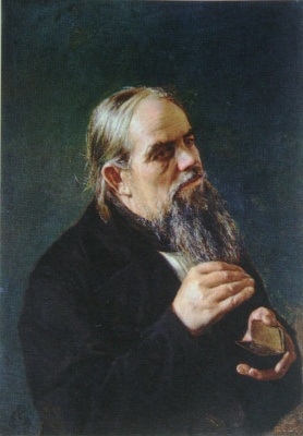 "Nikolay Aleksandrovich Yaroshenko. ""The old man with snuff box"" 1873"