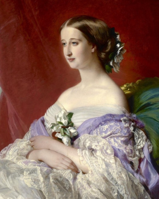 Franz Xaver Winterhalter. The Empress of France Eugenia (Eugenie de Montijo). Fragment