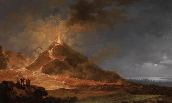 Pierre-Jacques Woller. View of the eruption of Vesuvius from Atrio del Cavallo on May 14, 1771.
