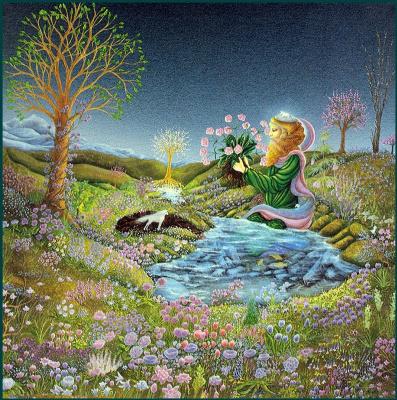 Ники Бройлс. Розовые цветы