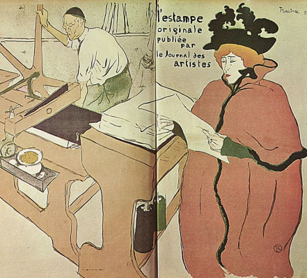 "Henri de Toulouse-Lautrec. Cover of ""the Original print"""
