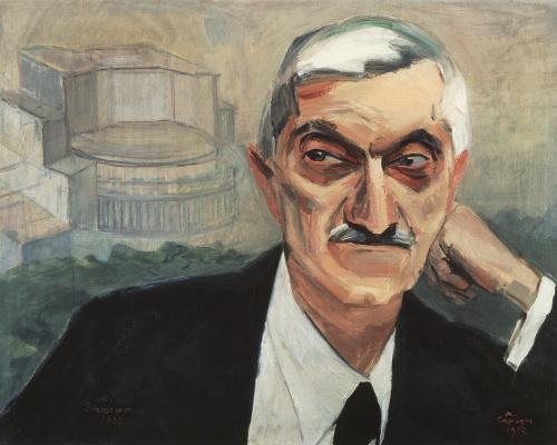 Мартирос Сергеевич Сарьян. Портрет архитектора Александра Таманяна