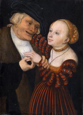 Старик и молодая женщина