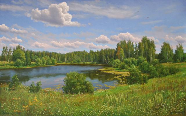 Alexander Vasilyevich Zoryukov. Lake at Yakimovo