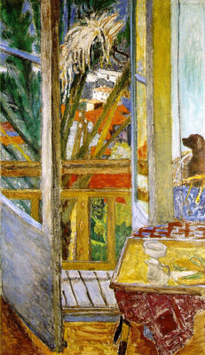 Pierre Bonnard. The door with the dog