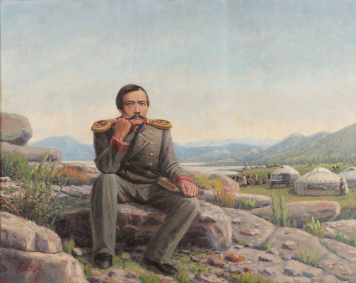 Abylkhan Kasteevich Kasteev. Portrait of C. Valikhanov