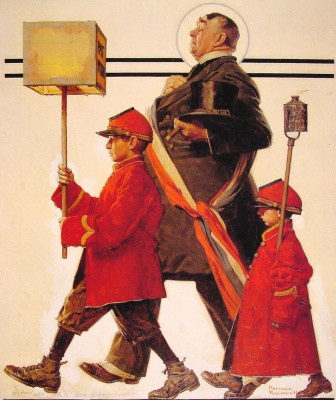 Norman Rockwell. The procession