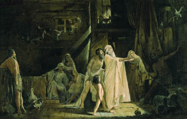 Andrei Petrovich Ryabushkin. Noah's Ark. 1882