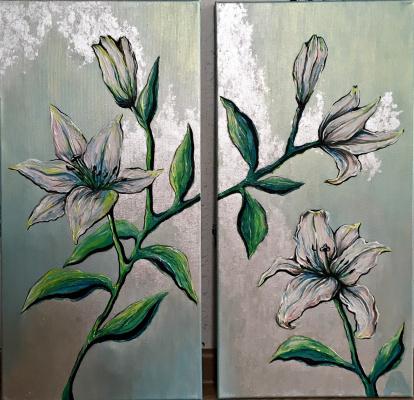 Alena Novikova. Lilies
