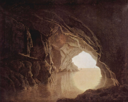 Joseph Wright. Evening the grotto
