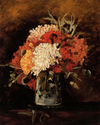 Vincent van Gogh. Vase with carnations