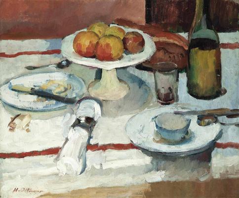 Анри Оттманн. Яблоки, хлеб и масло.