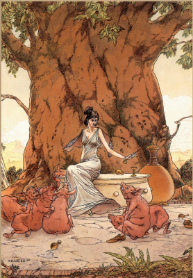 Charles Vess. CIRCE and her pigs