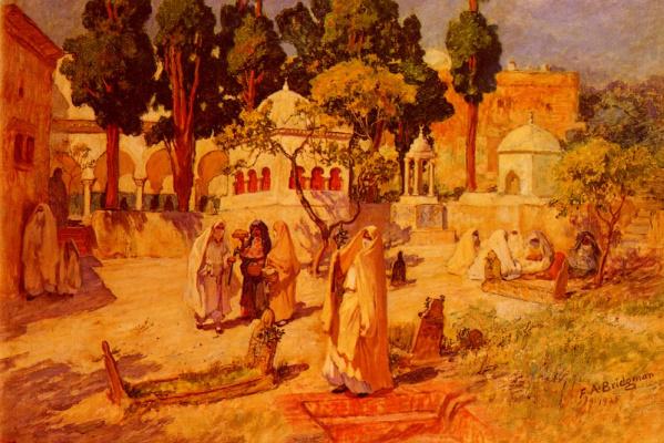 Фредерик Артур Бриджмен. Арабские женщины в городской стене