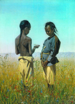 Vasily Vasilyevich Vereshchagin. Children of the tribe soloniv