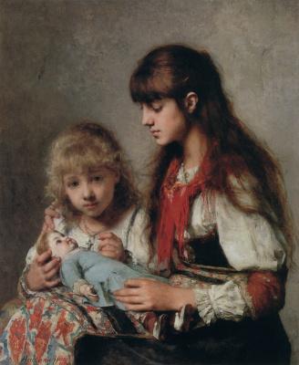 Alexey Alekseevich Kharlamov. Sisters. 1888