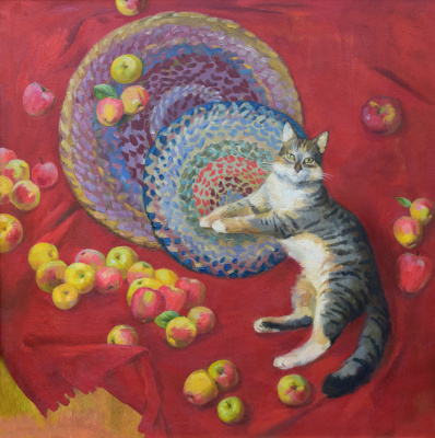 Svetlana Sergeevna Kozlobrodova. Autumn shade Apples varieties autumn striped.