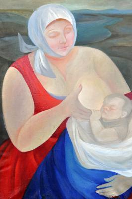 Elena Mikhailovna Kiverina. Mother Russia (Donbass Madonna)