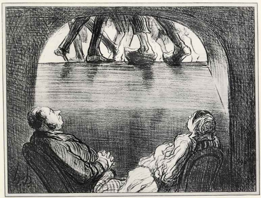 Honore Daumier. The view from the basement to the world above