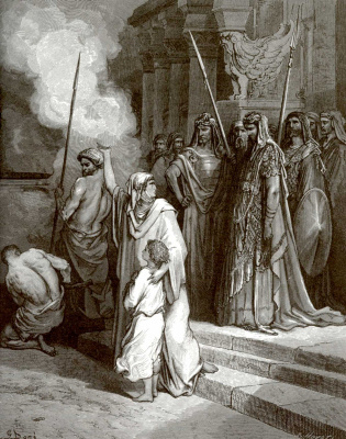 Paul Gustave Dore. Bible illustration: Mother Maccabees