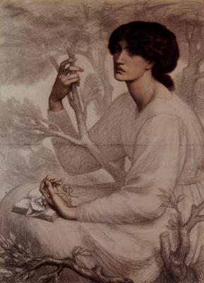 Dante Gabriel Rossetti. A dream come true. Sketch
