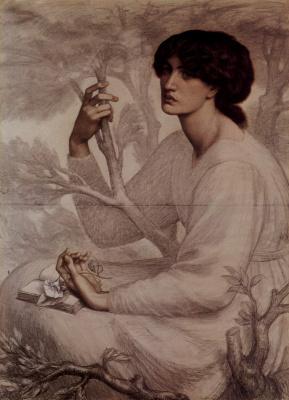 Dante Gabriel Rossetti. A dream come true. Sketch
