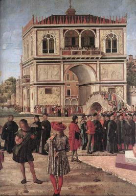 Vittore Carpaccio. The ambassadors returned in the English ship
