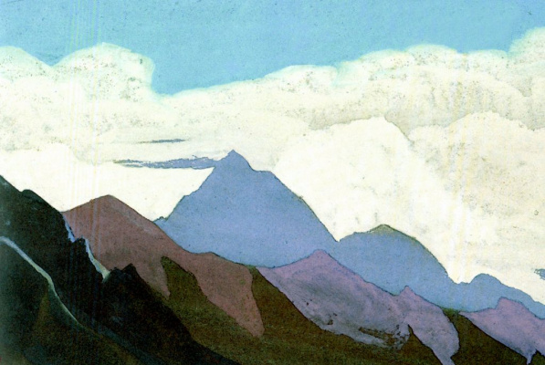 Nicholas Roerich. The Himalayas (ocean cloud)