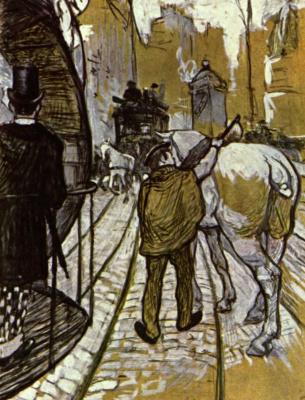 Анри де Тулуз-Лотрек. Запряжная лошадь из омнибусной компании