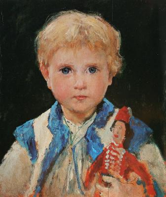 Альберт Анкер. Девочка с куклой