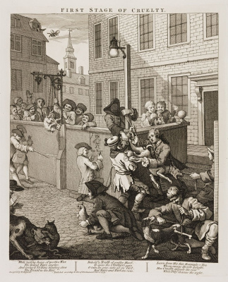 William Hogarth. Four degrees of cruelty. First degree