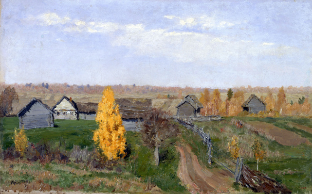 Isaac Levitan. Golden autumn. Slobidka