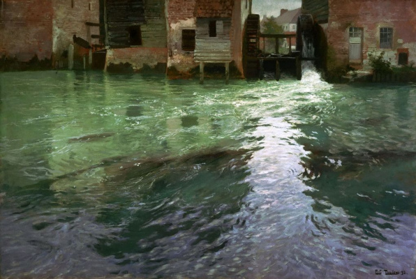 Frits Thaulow. Water mill