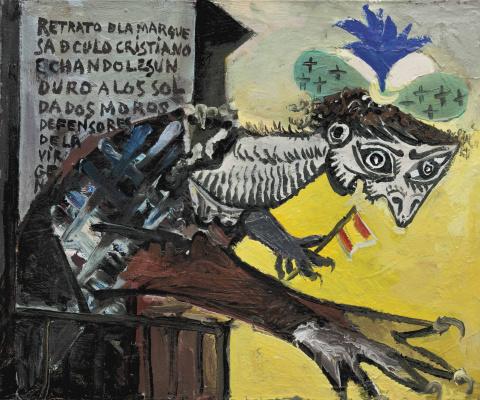 Pablo Picasso. Figure (de femme inspirée par la guerre d'Espagne)