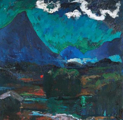 Джованни Джакометти. Ночной горный пейзаж