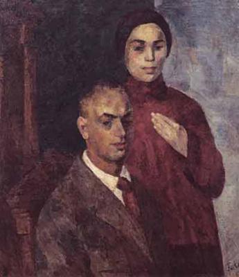 Роберт Рафаилович Фальк. Автопортрет с женой