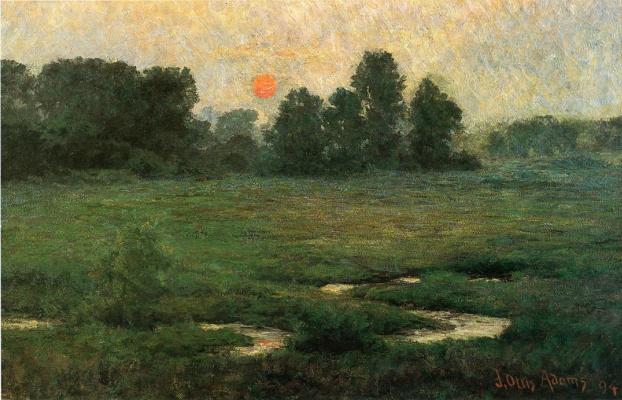 John Ottis Adams. Sunset in August