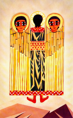 "Natalia Goncharova. Costume design for the ballet Seraphim Leonid myasina ""Liturgy"""