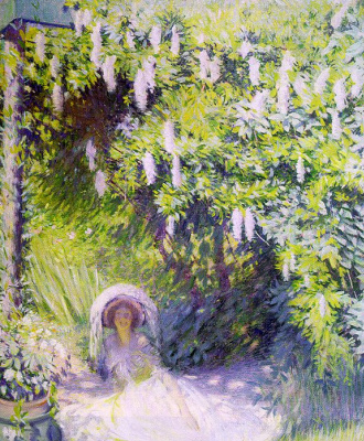 Philip Leslie Hale. In the garden
