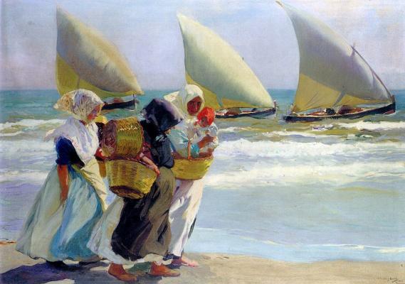 Хоакин Соролья (Соройя). Три паруса