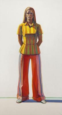 Уэйн Тибо. Женщина в полосатой блузке
