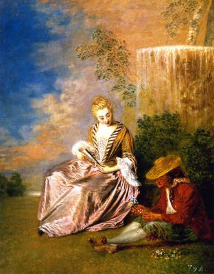Antoine Watteau. Panic lover