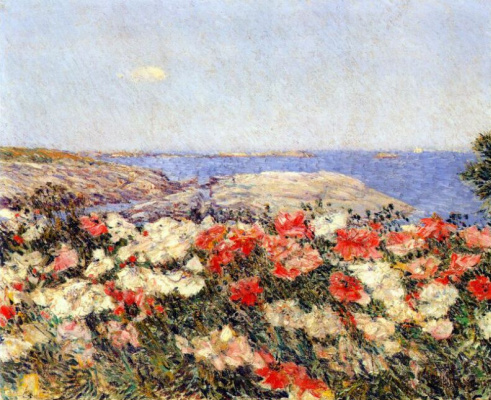 Childe Hassam. Poppies on the Isles of shoals
