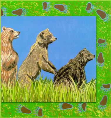 Хедвиг Рапп. Цветы. Пятнистый медведь 12