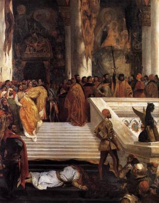 Eugene Delacroix. The execution of Doge Marino Faliero