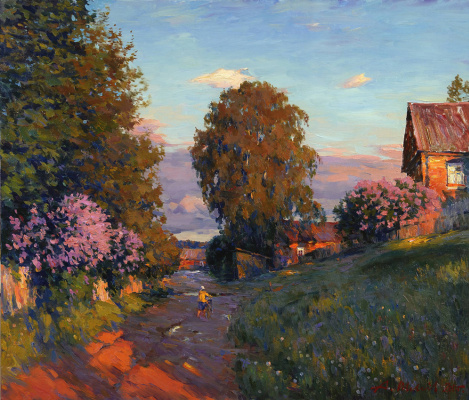 Alexander Victorovich Shevelyov. Evening.The beginning of summer.Oil on canvas 72 # 83,5 cm 2011