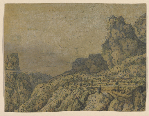 Hercules Segers. Mountain valley with a plateau