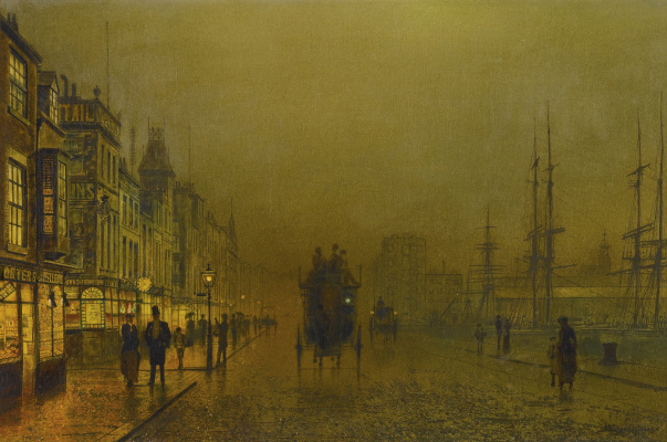 John Atkinson Grimshaw. Glasgow Waterfront Lights